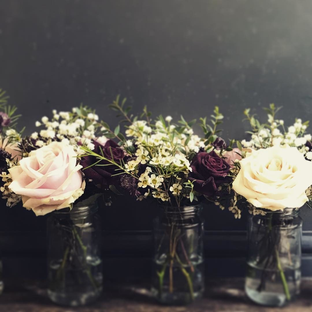 Cute Little Jam Jars For A Perfect Wedding Jane Maples Flowers
