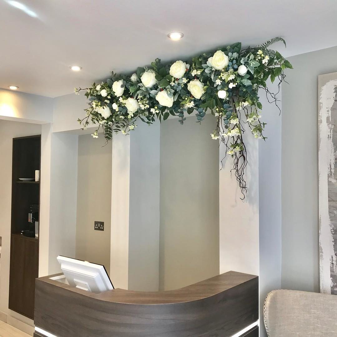 Us Creating A Stunning Flower Display At A New Beauty Salon Olive Bay Beauty Jane Maples Flowers